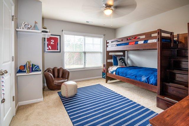 fan with light in bedroom